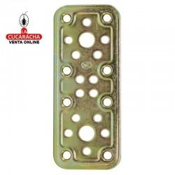Placa Recta Modelo 500 Bicromatada AMIG. 4 Medidas.