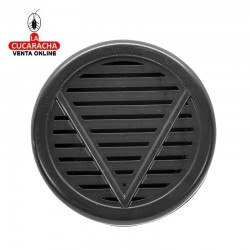 Humificador para caja de puros en plástico, forma redonda, color negro, con esponja interior para humedecerla.