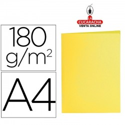 LIDERPAPEL-Pack 50-Subcarpeta din A4 amarillo intenso 180g-m2