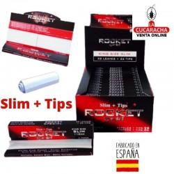 ROCKET-Pack 24-Libro 32 Hojas y Tips Papel Liar Slim.