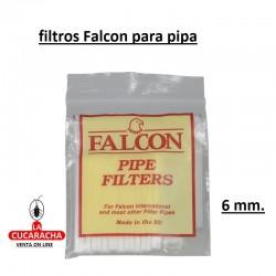 FILTROS FALCON PARA PIPA 6MM. PACK 12 BOLSITAS
