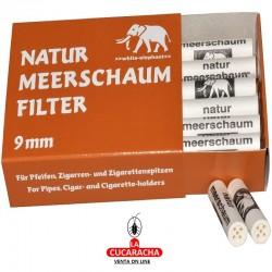 10 Cajas de 40 Filtros WHITTE ELEPHANT 9mm Pipa Fumar Espuma de Mar.