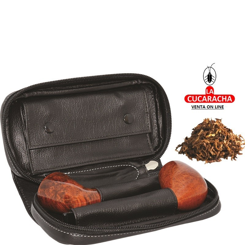 BOLSA 2 PIPAS FUMAR TABACO Y ACCESORIOS***