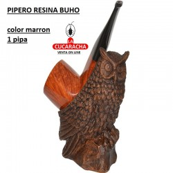 PIPERO RESINA BUHO COLOR MARRON