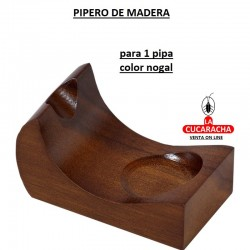 PIPERO MADERA 1 PIPA COLOR NOGAL