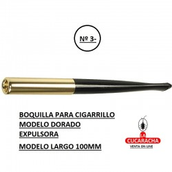 Boquilla Expulsora Modelo Largo 100mm. dorada DENICOTEA.