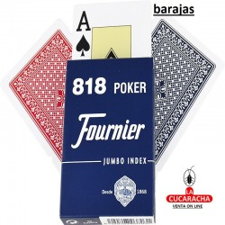 PACK 12 BARAJA POKER Nº818 DE 55 CARTAS