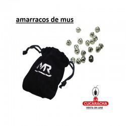 PACK 5 BOLSAS DE 25 AMARRACOS METALICOS JUGAR MUS