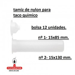 TAMIZ DE NYLON TACO QUIMICO BOLSA 12 UDS.***