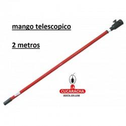MANGO TELESCOPICO RODILLO CON CAZOLETA 2METROS