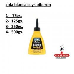 COLA BLANCA CEYS BIBERON 4 MEDIDAS***
