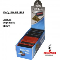 Maquina liar Cigarrillos. Plastico 78mm.