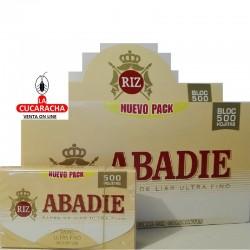 2 CAJAS DE 20- PAPEL FUMAR 78 ABADIE 500