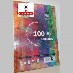 PAPEL 10 COLORES A4 80GS 100HOJAS TAURO***