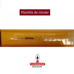 PLANTILLAS DE ROTULAR- 6 MEDIDAS