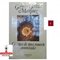 LIBRO CRONICA DE UNA MUERTE ANUNCIADA-MONDADORI-G.MARQUEZ