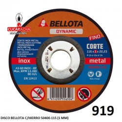 DISCO BELLOTA C/HIERRO 50400-115 (1 MM)