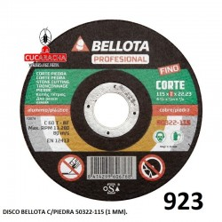 DISCO BELLOTA C/PIEDRA 50322-115 (1 MM).