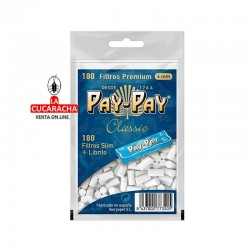 Filtros Cigarrillo PAY PAY 6mm Bolsa 180 mas librito