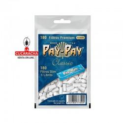PAY PAY-Pack 40-Bolsa de 180 Filtros 6mm. más librito.